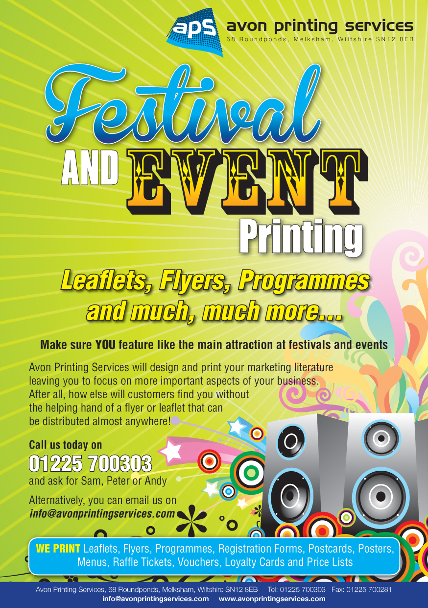 festival and event printing avon printing services
