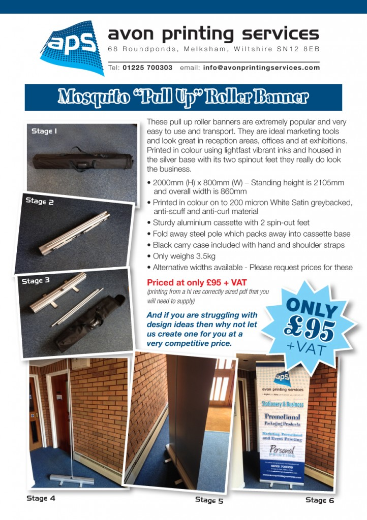 Mosquito Pull Up / Roller Banners